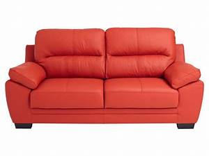 Canapé fixe 3 places en cuir VICTORIA 2 coloris Conforama Pickture