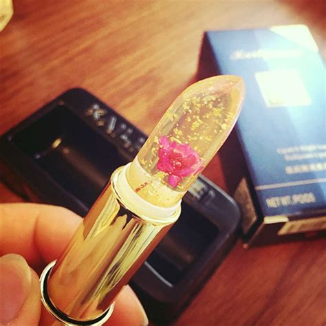 clear lipstick  real flowers    color