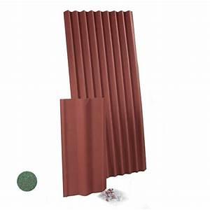 Plaque Ondulée Pour Toiture : plaque de toiture bitum e longueur 2m plaque bitum e rouge ~ Premium-room.com Idées de Décoration