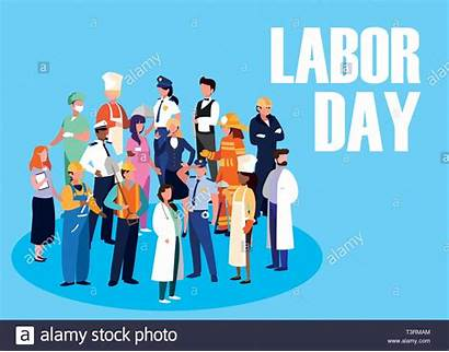 Labour Illustration Celebration Professionals Vector Alamy