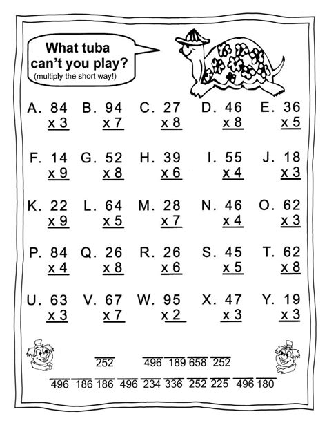 grade math worksheets  coloring pages  kids