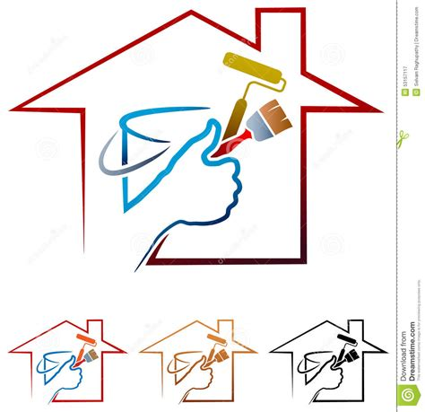 house painting logo stock vector image