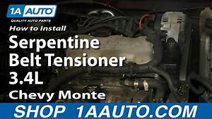 How To Replace Serpentine Belt Tensioner 95