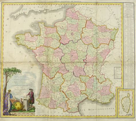 large map  france  original art antique maps