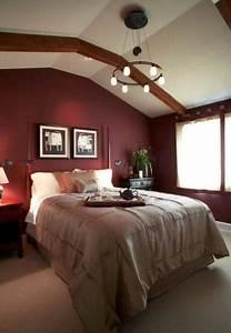 Marsala, Wine, Bedroom, Colors, Modern, Bedroom, Decorating, With, Dark, Red, Color