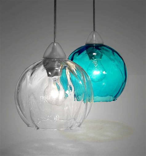 glass pendant lighting with colorful effects homescorner