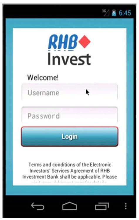site login android rhbinvest stock trading investment services
