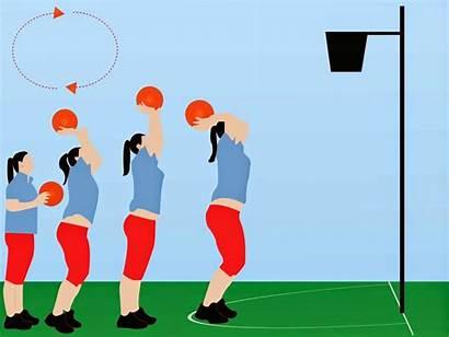 Netball Shoot Cartoon Drills Clipart Shooting Goal