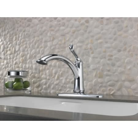 Delta Kitchen Faucets Warranty by Delta 1353 Dst Chrome Linden Kitchen Faucet With Optional