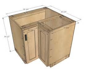 Kitchen Furniture Plans White Build A 36 Quot Corner Base Easy Reach Kitchen Cabinet Basic Model Free And Easy Diy