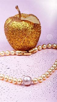 Pearls on pink stock photo. Image of classic, grace ...