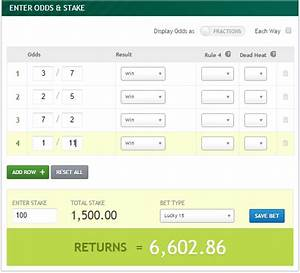 Horse Racing Odds Calculator Payout