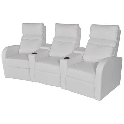 canapé inclinable acheter canapé inclinable cinéma maison 3 sièges en cuir
