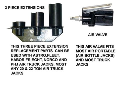 Air Truck Jack Replacement Parts