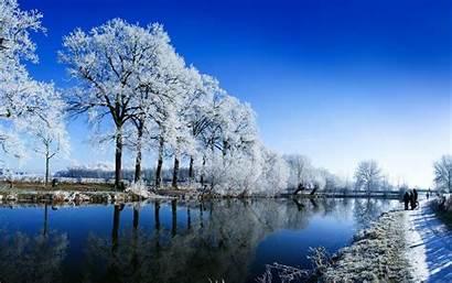 Snow Winter Landscape Background