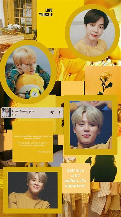 Bts Aesthetic Yellow Jimin Backgrounds Agustinmunoz Wallpapers