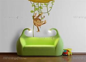 Wandtattoo Kinderzimmer Dschungel : wandtattoo wandsticker kinderzimmer affen dschungel 1168de ~ Orissabook.com Haus und Dekorationen