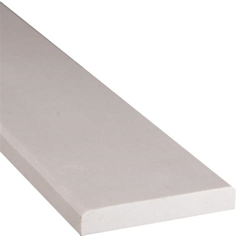 ms international white beveled 4 in x 36 in engineered marble threshold floor and wall