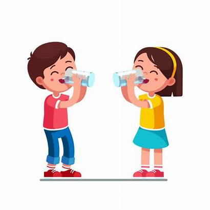 Drinking Water Clipart Boy Holding Clip Glasses