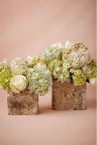 Rustic Centerpieces Wood Pots Container Betula Arrangements