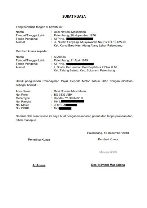 Contohsuratindonesia.com kali ini memberikan contoh surat. KOMIK & KOMPUTER INFORMASI: Contoh Surat Kuasa untuk Pengurusan Bayar Pajak Kendaraan Bermotor ...