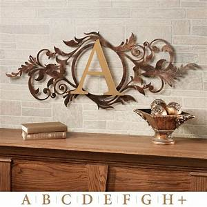Meglynn monogram horizontal metal wall art sign for Horizontal wall art