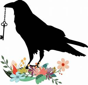 Clipart - Raven With Key