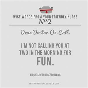 Quotes About Th... Funny Night Nurse Quotes