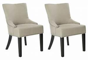 Oatmeal, Neville, Side, Chair, Pair, On, Onekingslane, Com