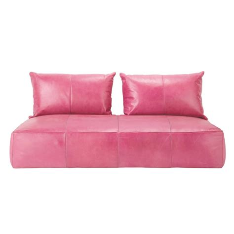 banquette canap 233 orientale 2 3 places fixe cuir fuchsia