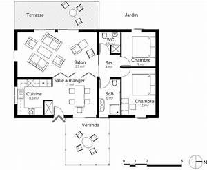 plan maison de plain pied 85 m2 ooreka With superb voir sa maison en 3d 2 plan maison en bois de plain pied ooreka