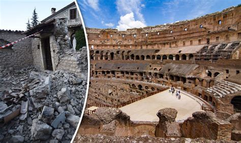 Colosseum In Rome Is Cracking From Italy Earthquakes