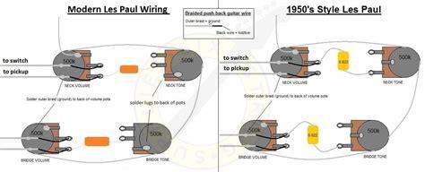 50s les paul wiring or modern wiring