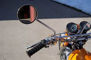 1969 To 1973 Yamaha Clamp On Mirror Dt1 Dt2 Dt3 Rt1 Rt2