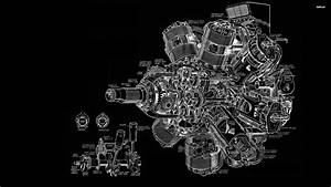 Engine Diagram Wallpaper - Vector Wallpapers