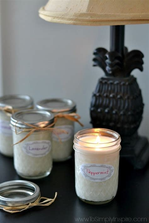 homemade soy candles  simply inspire