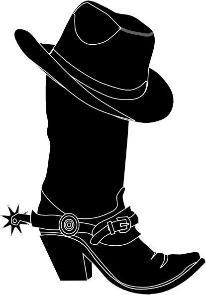 cowgirl hat  boot clip art  clkercom vector clip