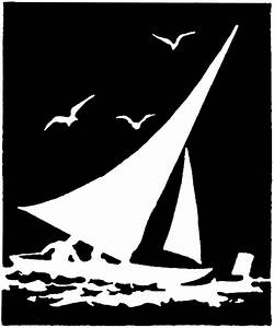 Vintage Sailboat Silhouette Image - The Graphics Fairy