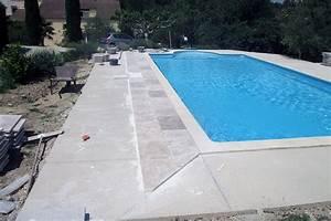 Dallage Travertin Extérieur : am nagement ext rieur de piscine techniques et mat riaux ~ Edinachiropracticcenter.com Idées de Décoration