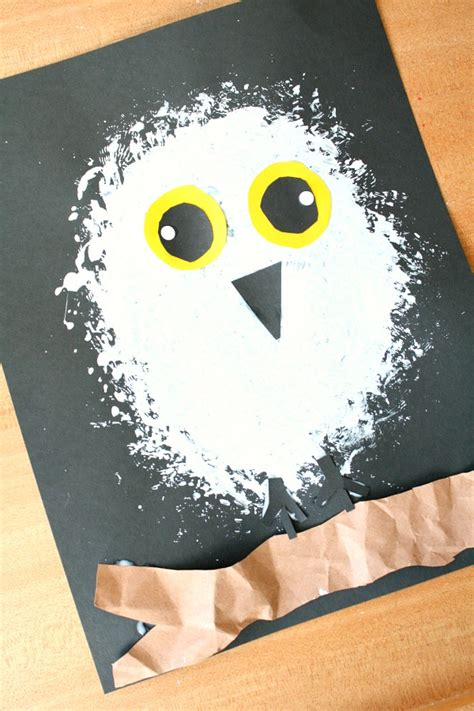 snowy owl winter craft for fantastic amp learning 674 | Snowy Owl craft pin no text
