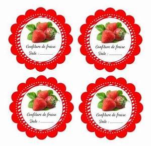 Mes étiquettes Gratuites à Imprimer : fabrication etiquettes pour confiture de fraise a coller ~ Nature-et-papiers.com Idées de Décoration