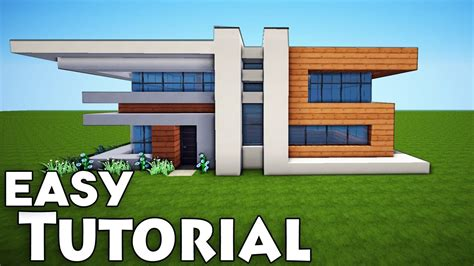Modernes Haus Minecraft by Minecraft Small Easy Modern House Tutorial How To Build