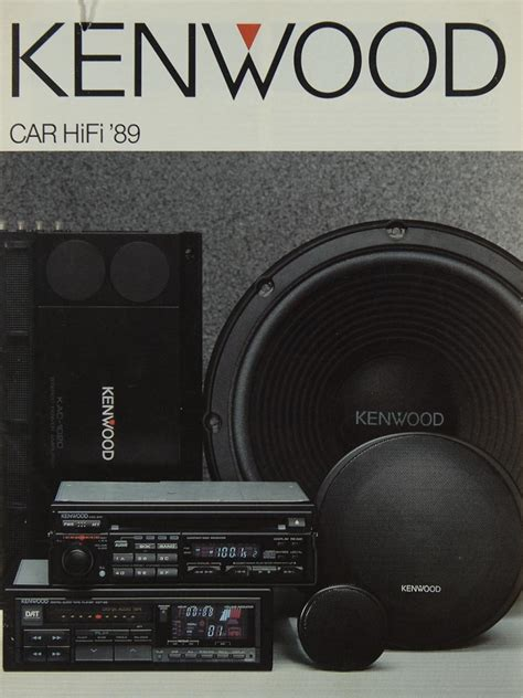 kenwood car hifi kenwood car hifi 1989 brochure catalogue diverses kenwood brochures catalogues hifi