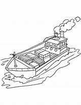 Coloring Ship Cargo Cruise Container Drawing Printable Getcolorings Sketch Getdrawings Template sketch template