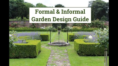 formal informal garden design guide youtube