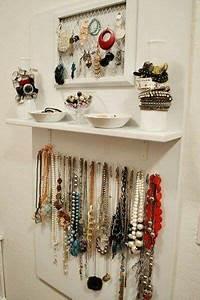 Idée Rangement Bijoux : idee rangement bijoux bedroom closet organization organizador collares decoracion de ~ Melissatoandfro.com Idées de Décoration
