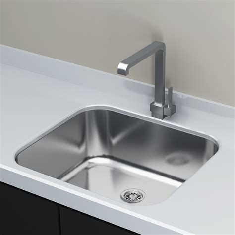 stainless steel kitchen sinks undermount cantrio koncepts kss 2018 kitchen steel series single bowl 8279