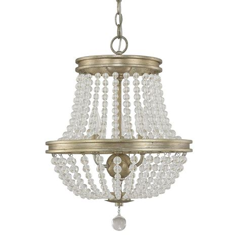 Gold Chandelier by Allen Co 3 Light Iced Gold Chandelier 9a125a