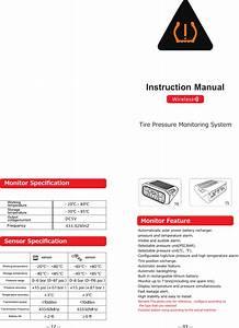 Tcity Electronics Tc88 Tpms User Manual
