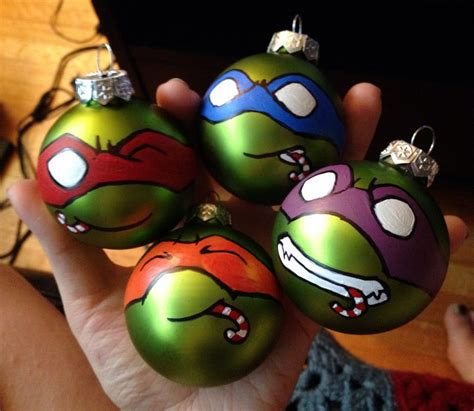 teenage mutant ninja turtle christmas ornaments by